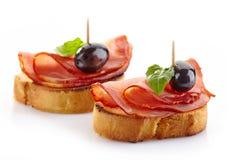 Spaanse voedseltapas stock foto