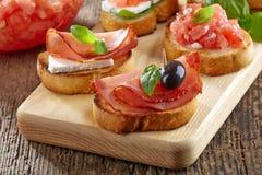 Spaanse voedseltapas royalty-vrije stock fotografie