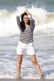 Spaanse Vrouw in Oceaan Royalty-vrije Stock Afbeelding