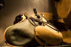 Spaanse wijnlaarzen Stock Foto's