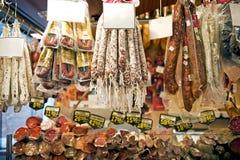 Spaanse worsten stock foto's