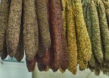 Spaanse worsten Stock Foto