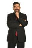 Spaanse Zakenman met Hand op Kin royalty-vrije stock foto