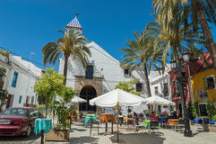 Spaanse zonnige kerk Royalty-vrije Stock Fotografie