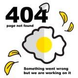Spaarder op plaatsen 404 fout royalty-vrije illustratie