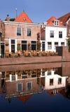 Spaarndam - casas da vila Foto de Stock Royalty Free