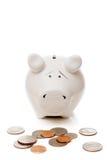 spaarvarken en Amerikaanse centen stock fotografie