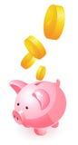 Spaarvarken en geld Royalty-vrije Stock Afbeelding