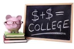 Spaarvarken met universiteitsformule royalty-vrije stock afbeeldingen