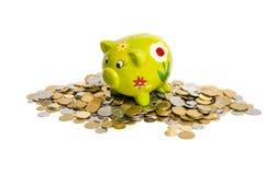 Spaarvarken voor muntstukken Stock Afbeeldingen