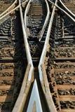 Spaccatura della ferrovia Fotografie Stock Libere da Diritti