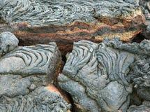Spaccatura della roccia della lava aperta Immagine Stock Libera da Diritti