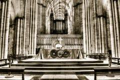 Spaccatura di HDR dell'altare di York Minster che tonifica A Fotografia Stock