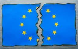 Spaccatura europea della bandiera Immagini Stock Libere da Diritti
