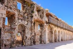 Spaccatura, pareti del sud della Croazia Fotografia Stock