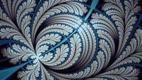 Spacchi il frattale infinito della farfalla di elliptice immagine stock