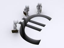 Spacco euro di sorveglianza Fotografia Stock Libera da Diritti