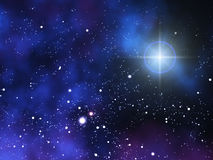 Space. Background with stars and galaxies Stock Image