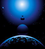 Space. Earth and others planets.  illustration Royalty Free Stock Photography