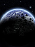 Space. A Space scenario - Earth in the space Royalty Free Stock Image