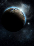 Space. A Space scenario - Earth in the space Stock Photo