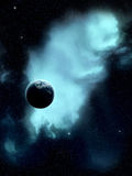 Space. Galactic Space Nebula with Stars and planet Royalty Free Stock Photo