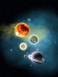 Space. Galactic Space Nebula with Stars and planet Royalty Free Stock Image