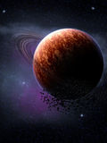 Space. A Space scenario - Planet in the space Stock Images
