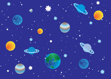Space. Seamless background, Children's illustration Stock Image