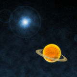 Space. This photo design by photoshop it is not real space Stock Image