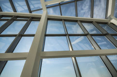 Glass roof of modern office building. Royalty Free Stock Photos