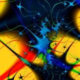 Space. Mathematically-based, fractal image Stock Image