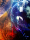 Space, abstract background. Space, abstract colorful fantastic background Stock Photos
