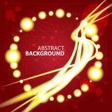 Space Abstract red background with glowing white rays and stars.  Royalty Free Stock Photo