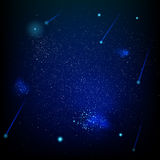 Space abstract star field. EPS 10. Space abstract star field background design template, sparkling haze space background. EPS 10 vector file included Royalty Free Stock Image
