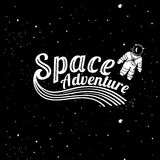 Space adventure card Stock Photography