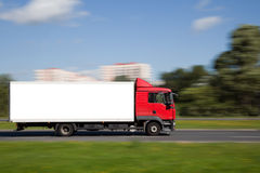 Space for advertisement on truck Stock Images