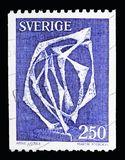 Space without Affiliation (sculpture by Arne Jones), Definitives. MOSCOW, RUSSIA - MAY 10, 2018: A stamp printed in Sweden shows Space without Royalty Free Stock Photo