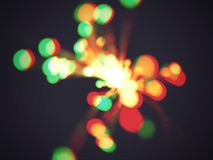 Space age lights. Macro of fibre optic lights with a vintage treatment Stock Photography