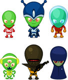 Space Alien army set Royalty Free Stock Images