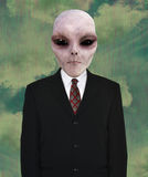Space Alien, Business Suit, Tie Royalty Free Stock Photos