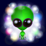 Space alien illustration Royalty Free Stock Image