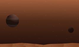 Space alien landscape collection stock Stock Photos