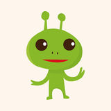 Space alien theme elements vector,eps. Vector illustration file Royalty Free Stock Photo