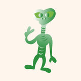 Space alien theme elements Stock Images