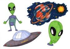 Space Alien UFO Stock Photos