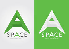 A Space.An alphabet that describe many thing. For your business success in a modern style Royalty Free Stock Photography