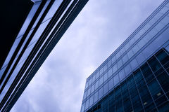 Space amongst business skyscrapers Stock Photos