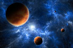 Space Art - Planets And Nebula Stock Photos