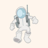 Space Astronaut theme elements vector, eps10 Royalty Free Stock Image